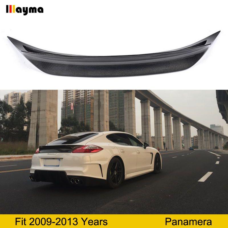 Vorsteinernr stil Carbon Fiber hinten heckspoiler Für Porsche Panamera 4 S 3.6L 2009-2013 jahr Turbo 4,8 T GTS auto spoiler Flügel