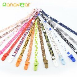Baby Pacifier Clip Chain for soothers Ribbon Chupetas funny Soother dummy holder Leash Strap Nipple Holder Infant Feeding