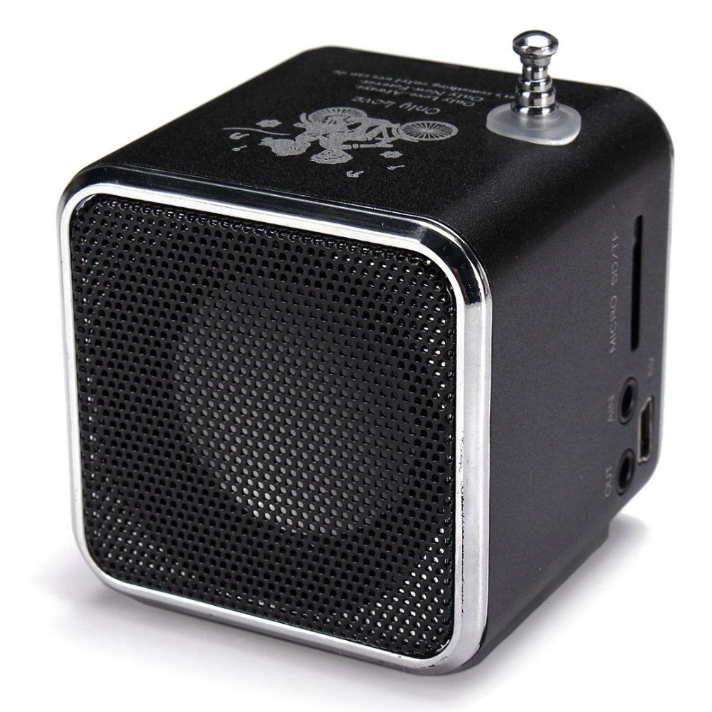 mini Digital portable radio FM speaker internet FM radio USB SD TF card player for mobile phone PC music player V26R DH