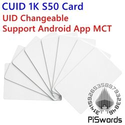 CUID UID  changeable nfc card with block0 mutable writeable for s50 13.56Mhz nfc chinese magic card Support Android App MCT