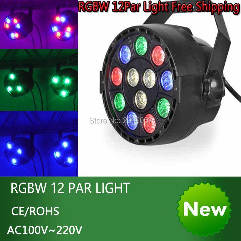 Nouveau 12*1 W LED DMX512 Par lumière disco dj effet de scène par lumière RGBW maison fête lumières noël vacances lumière projecteur