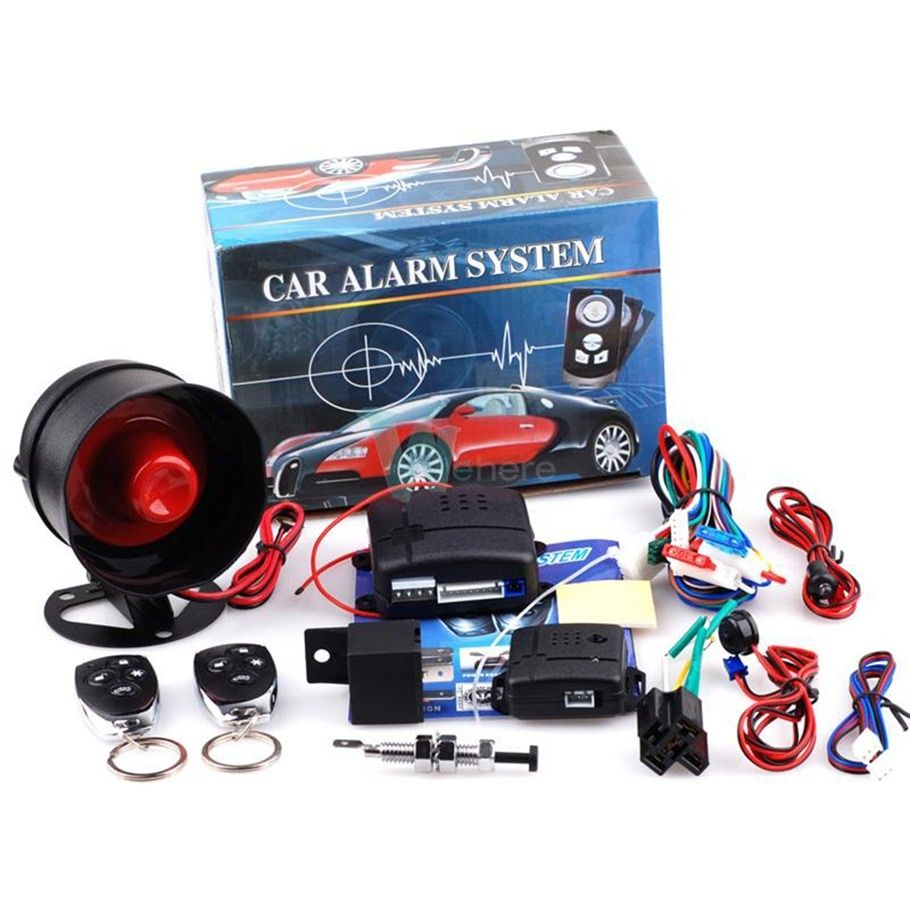 Hot Car Styling 1-Way Car Alarm Vehicle System Protec tion Security System Keyless Entry Siren + 2 Remote Control Burglar New