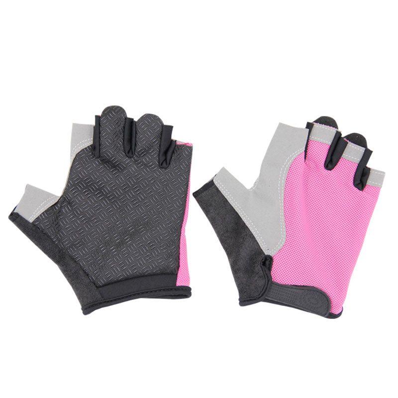 Woerao 2017 Professional Golf Half Finger Glove Breathable Blue Soft Fabric Golf Gloves Left Hand Super Fine Sports Gloves