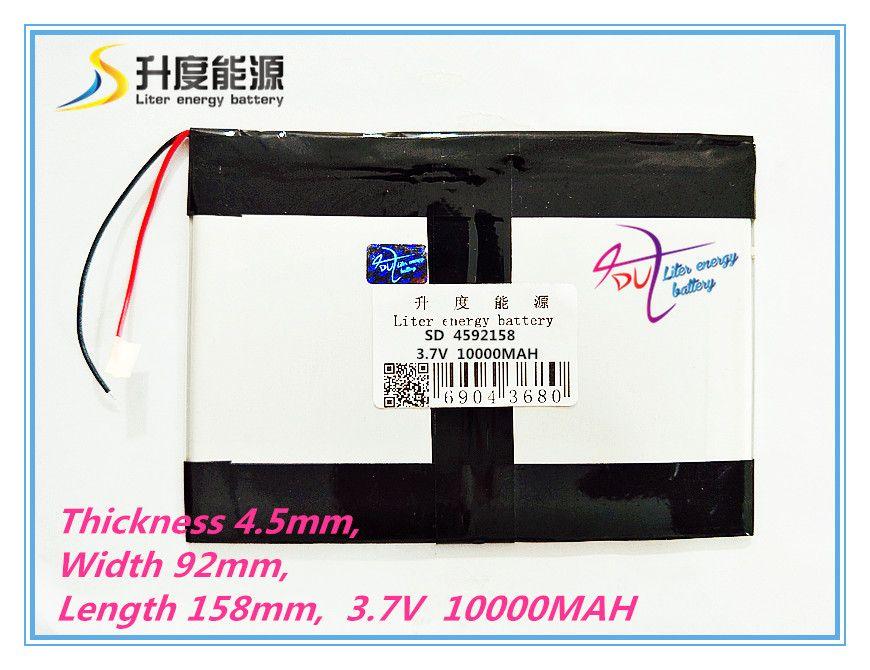 Tablet pc 3,7 V, 10000 mAH (polymer lithium-ionen-akku) li-ion akku für tablet pc 9,7 zoll 10,1 zoll [4592158] freies Verschiffen