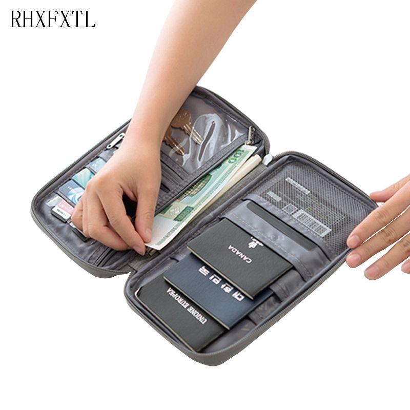 RHXFXTL marque passeport couvre titulaire paquet de carte organisateur de portefeuille porte-cartes de crédit accessoires de voyage porte-documents