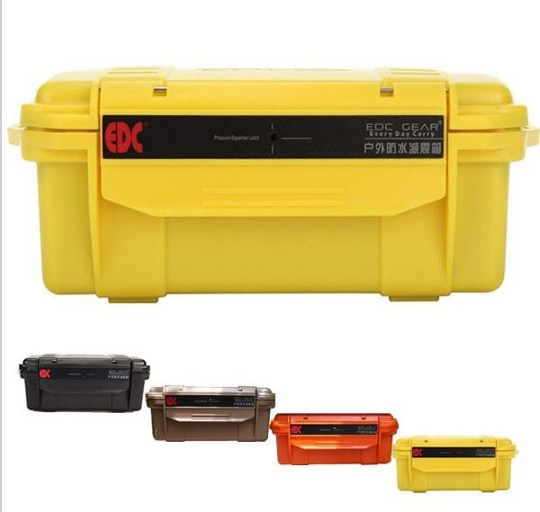 EDC Outdoor Waterproof box compression depth waterproof optional multi-color without cushion camping equipment