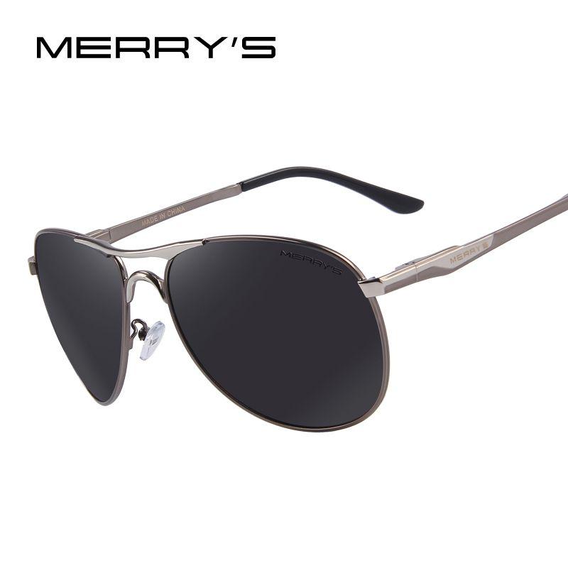 MERRY'S Men <font><b>Aluminum</b></font> Polarized Sunglasses Classic Brand Sunglasses EMI Defending Coating Lens Driving Shades S'8712