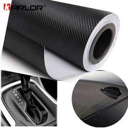 127cmx15cm 3D 3M Auto Carbon Fiber Vinyl Film Carbon Car Wrap Sheet Roll Film Paper Motorcycle Car Stickers Decal Car Styling