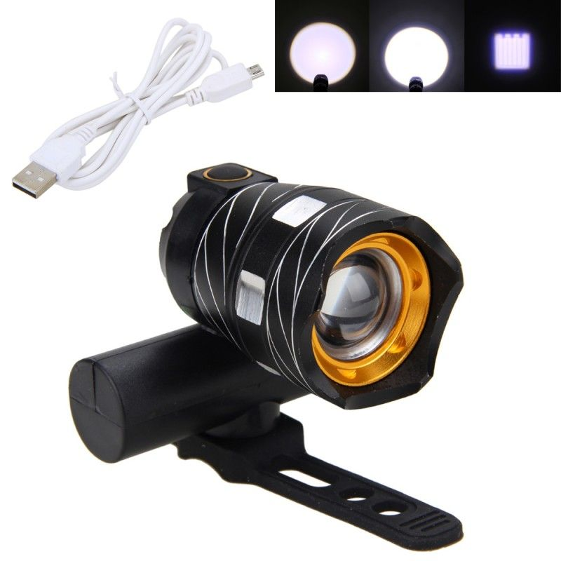 VASTFIRE 15000LM Zoomable XM-L T6 LED Bicycle Light Bike <font><b>Front</b></font> Lamp Torch Headlight with USB Rechargeable Built-in Battery
