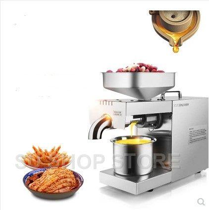 220 v/110 v Wärme und Kalten hause ölpresse maschine pinenut, kakao soy bean olivenöl presse maschine hohe öl extraktion rate