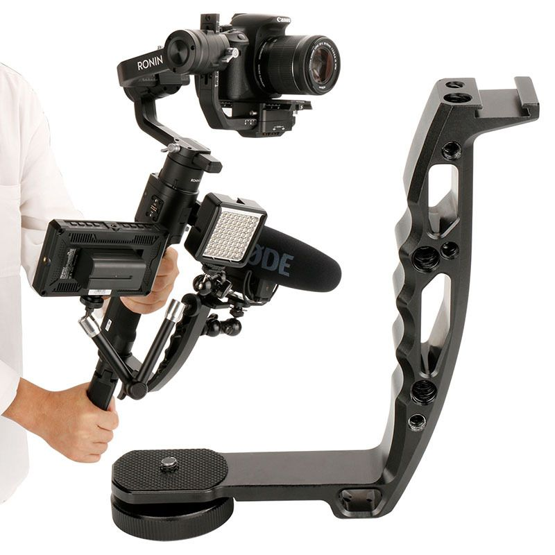 Handle Mount Gimbal Accessories for DJI Ronin S Crane 2 V2 Plus Moza Feiyu DSLR Gimbal L Bracket Grip for Monitor Mic MagicArm