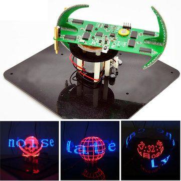 Nueva DIY Esférica Giratoria LED Kit POV de Soldadura Kit de Entrenamiento
