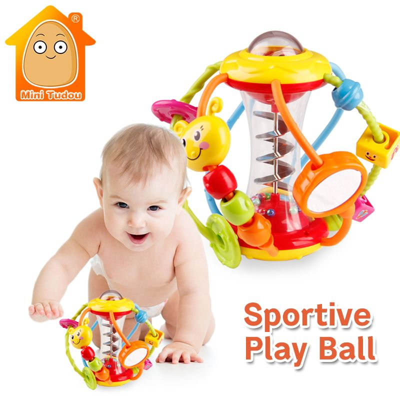Baby Rattle <font><b>Activity</b></font> Ball Baby Rattles Educational Toys For Babies Grasping Ball Puzzle Playgro