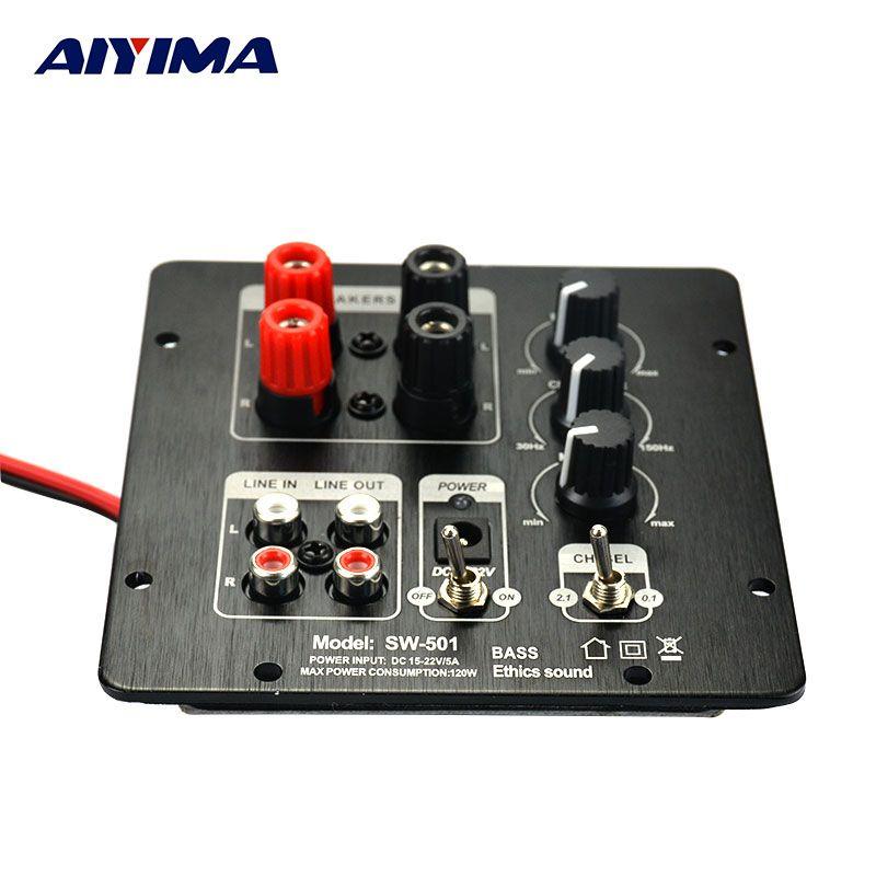 AIYIMA 2.1 caisson de basses numérique SMD carte amplificateur intégrée indépendante 2.0 canaux de sortie régionalisation amplificateurs fonctionnels