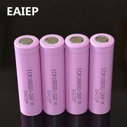 3,7 V 2600 мАч оригинальный аккумулятор 18650 литий-ионный перезаряжаемый Батарея eaiep для ICR18650-26F ICR18650 26F 2600 mAh батареи