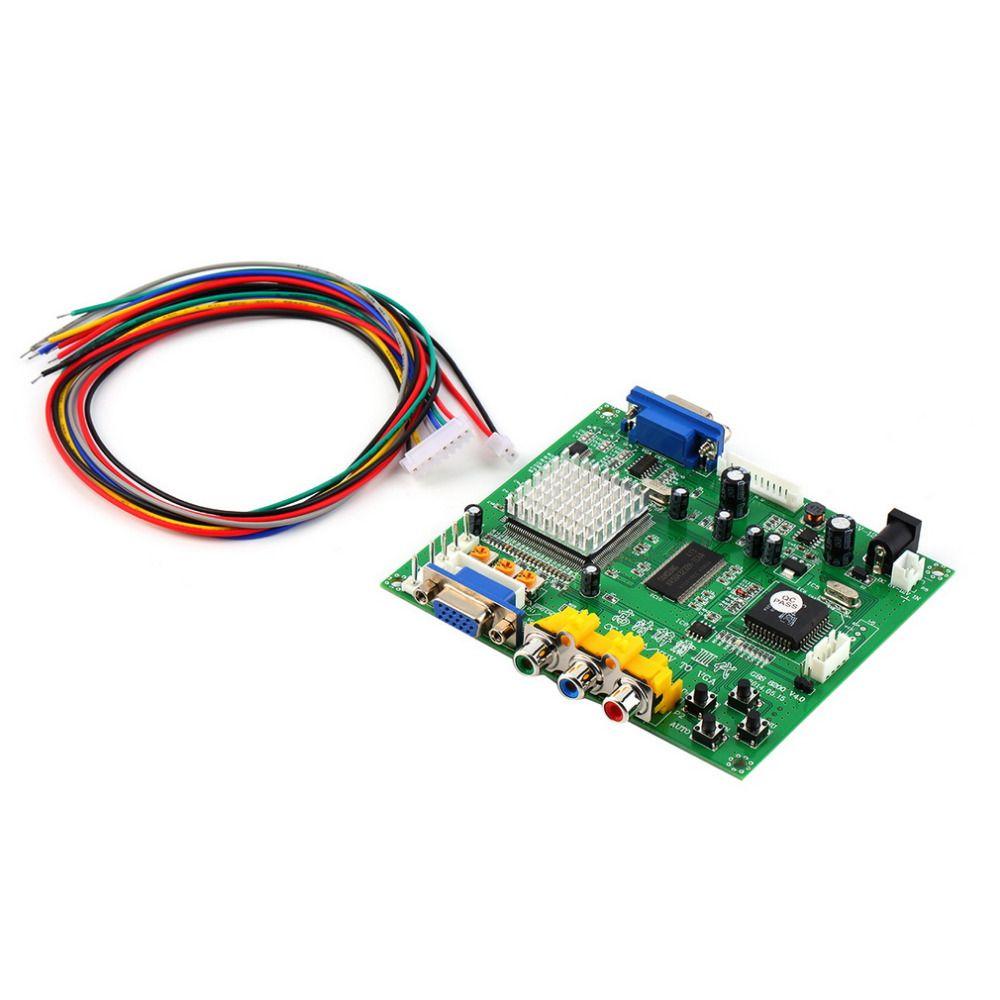 Зеленый 117*100*20 мм 5VDC +/-0.5 В (2A) аркада RGB/cga/EGA/YUV К VGA HD Video Converter Совета HD9800/GBS8200
