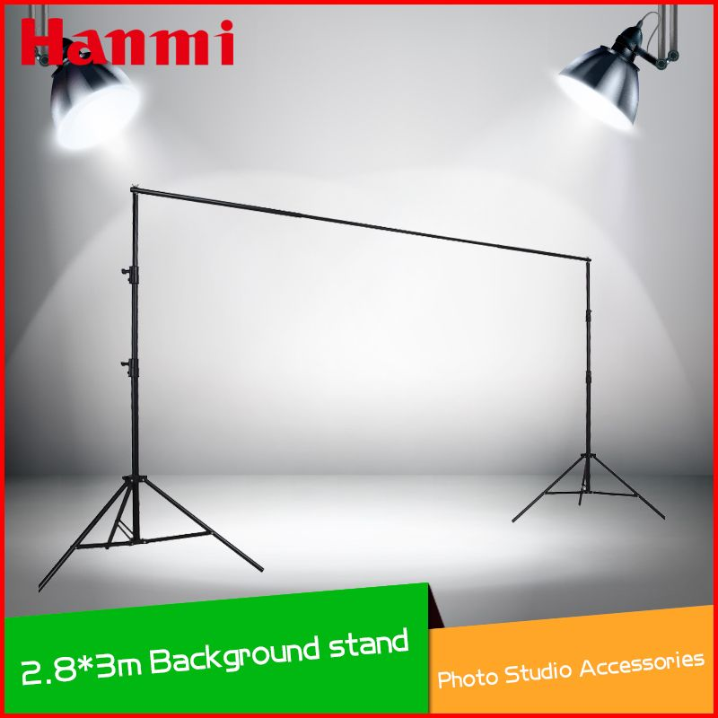 Photography 10Ft /3mHome Photo Studio Backdrop Stand Background Support Holder Kit System Tripod with Carry Bag Free Clamp