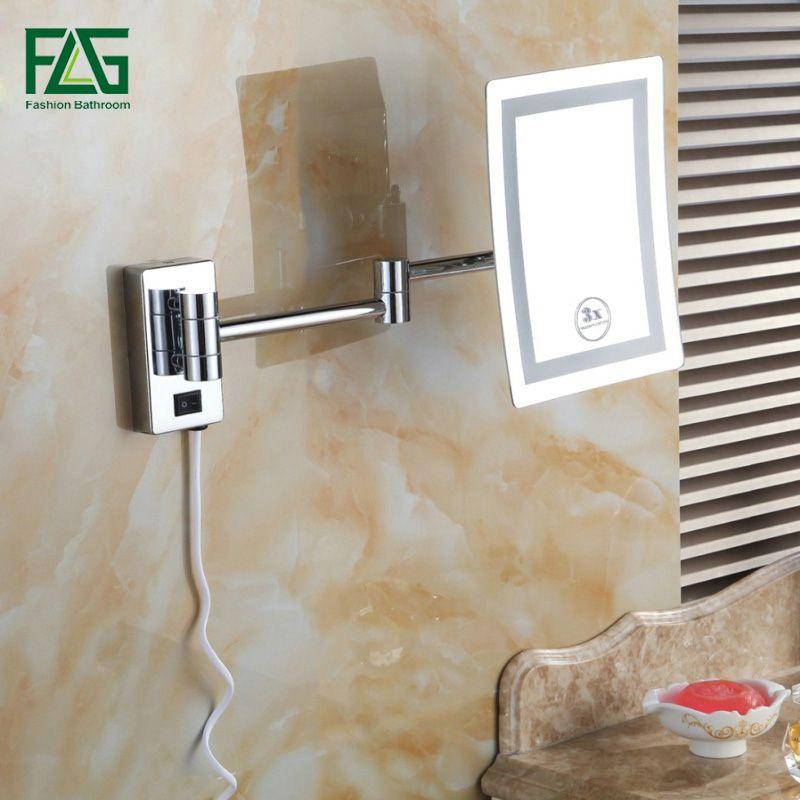 FLG Free Shipping Square LED Light Bath Mirrors 8