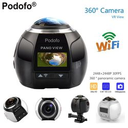 Podofo 360 Camera HD Ultra Mini Panoramic Camera WIFI 16MP 3D Sports Camera Driving VR Action Camera Video Cam Waterproof 30m