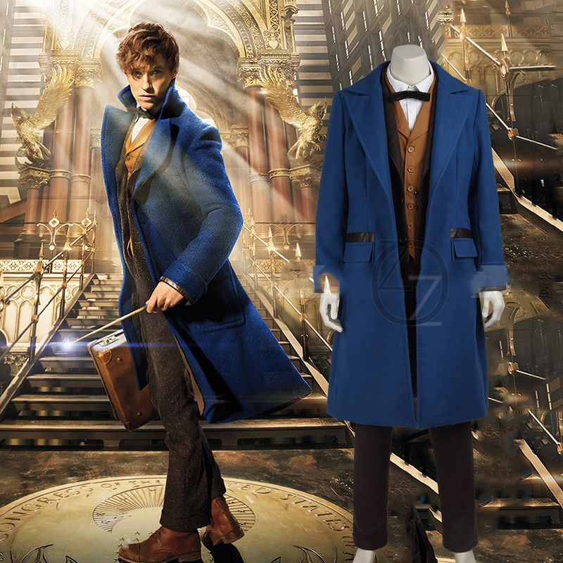 Fantastic Beasts and Where to Find Them Costume Newt Scamander Cosplay Adult Men's Anime Clothing Halloween Dress for Men