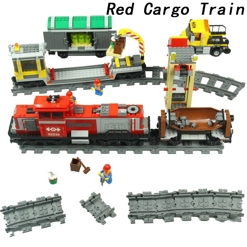 Lepin City Train Station Tracks Power Function Building Blocks Bricks DIY Toys For kids gifts oyuncak legoINGly brinquedos 60050