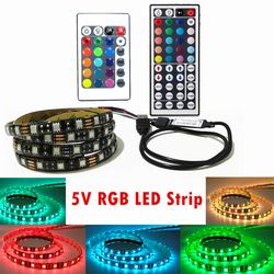 5050 RGB LED Strip Waterproof DC 5V USB LED Light Strips Flexible Tape 50CM 1M 2M 3M 4M 5M With Remote For TV Background Laptop