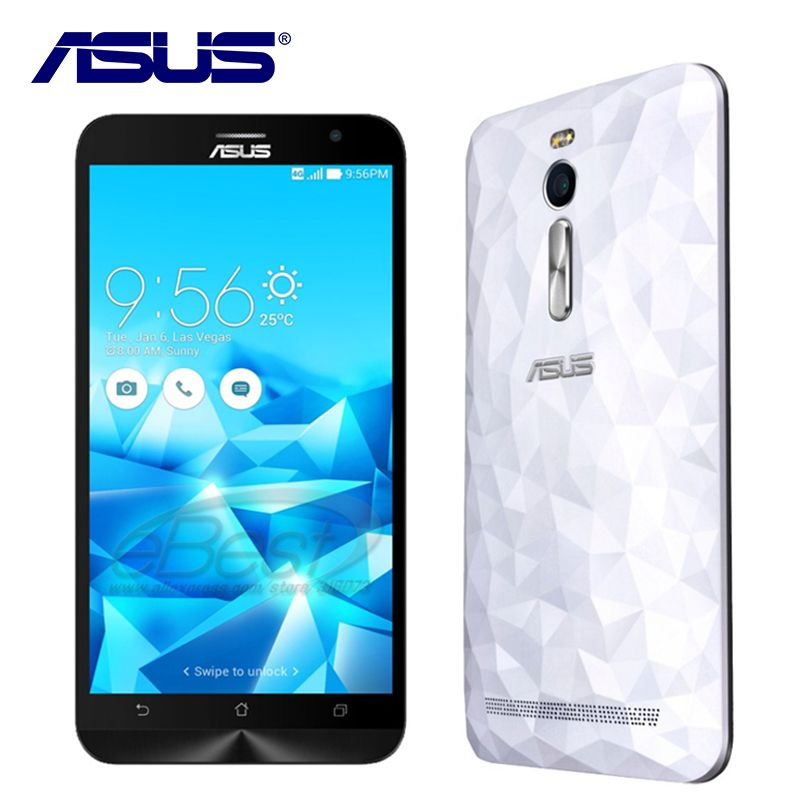 Original ASUS Zenfone 2 Deluxe ZE551ML 4GB RAM 64GB ROM Mobile phone Dual SIM Intel Z3580 Android 5.0 Quad Core 3000mAh 4G LTE
