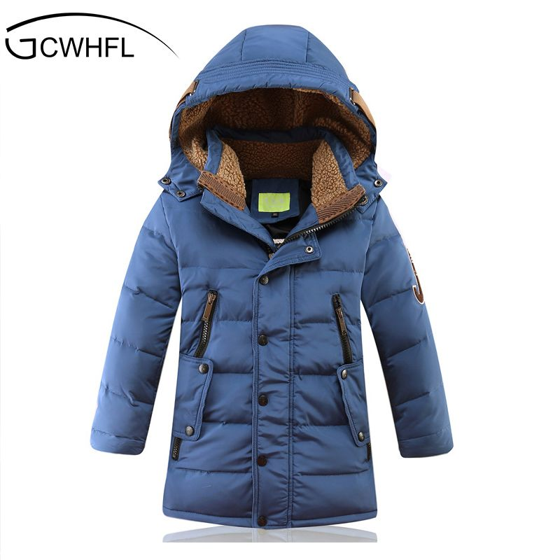 -30 Degree Children's Winter Jackets Duck Down Padded Children Clothing 2018 Big Boys Warm Winter Down Coat Thickening Outerwear