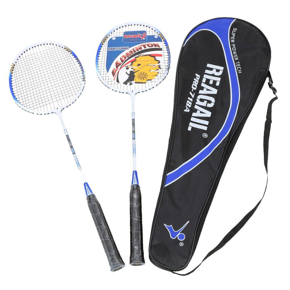 2 stücke Ausbildung Badminton Schläger Schläger mit Tragen Tasche Sport Ausrüstung für Haltbaren Leichten Aluminium Legierung