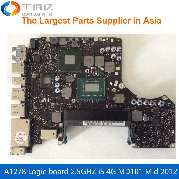 Laptop Motherboard For MacBook Pro A1278 Logic Board 13' MD101 4G i5 2.5GHZ 820-3115-A Mid 2012