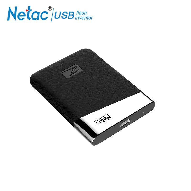 Netac Z6 USB 3.1 Typ C SSD 240GB 480GB 960GB 1,8 inch High Speed Tragbare Externe Solid State festplatte Für laptop desktop