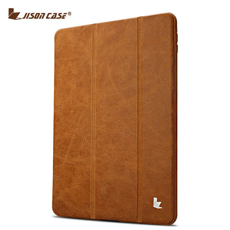 Jisoncase Flip Cases for iPad Air 1 Air 2 Smart Cover Luxury Genuine Leather Holder for iPad Air 5 6 Skin for iPad 9.7 2017