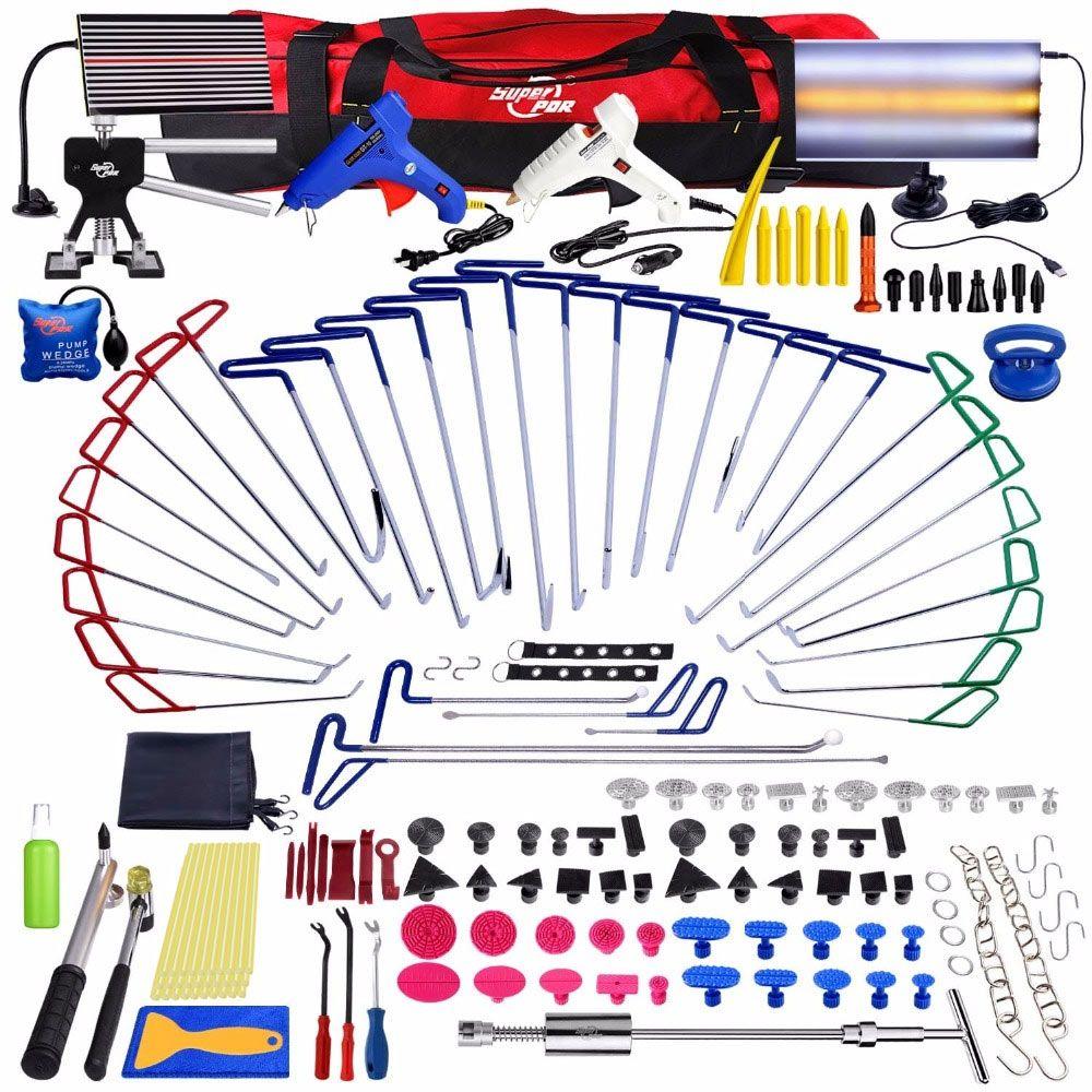 PDR Werkzeuge Neue Qualität Haken Stangen Paintless Dent Entfernung Auto Reparatur Kit Auto Werkzeuge Tür Dent Ding Hagel Entfernung