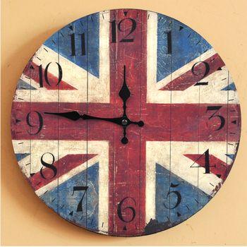 YCYS-Retro British flag Arabia Digital Clock Home Decoration