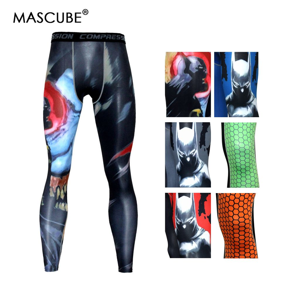 MASCUBE 2018 Men Gym Clothing Sport Leggings Trousers Men's Compression Tights Cycling Base Layers Training Running Tights Pants