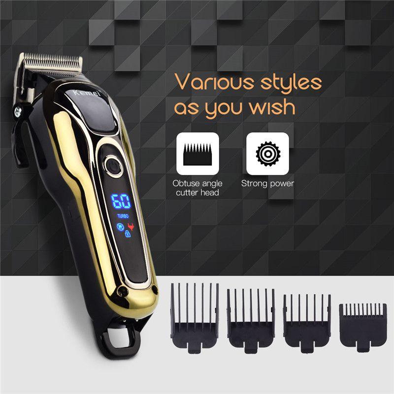 100-240 V kemei rechargeable tondeuse cheveux professionnel tondeuse cheveux rasage machine cheveux coupe barbe électrique rasoir P34