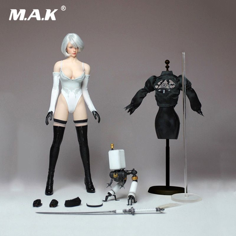 PS4 Game 1/6Cosplay 1/6 Nil Mechanical Era Robot Ulha AUTOMATA2B Clothes Set With Body Figure For ph body pale