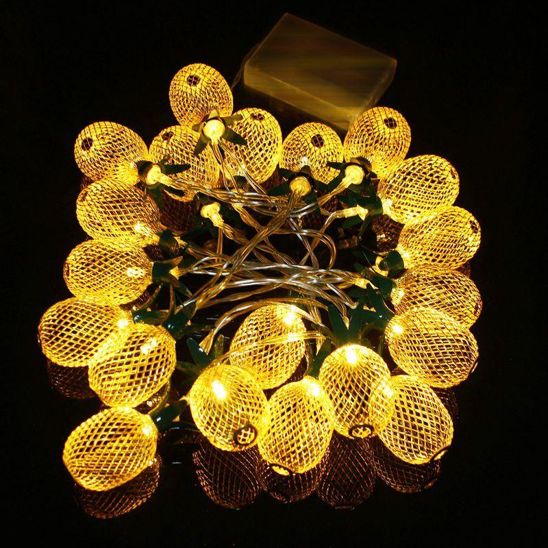 130 cm de Metal Con Forma de Piña de Linternas de Batería 10 LED String Luz de Navidad LED Luces de Hadas de Cuerda Mejor Para El Banquete de Boda