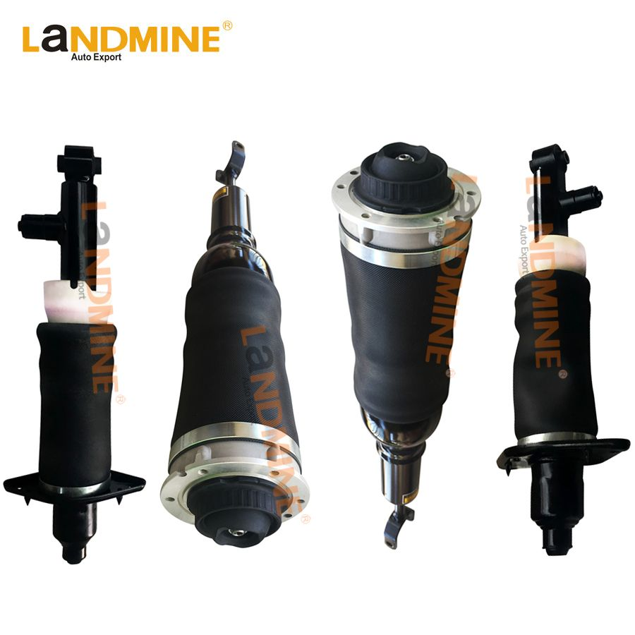 Free Shipping 4PCS Front Air Shock Rear Air Ride Suspension Strut Assembly Fit Audi A6 C5 Allroad 4Z7616051A(52A) 4Z7616051D