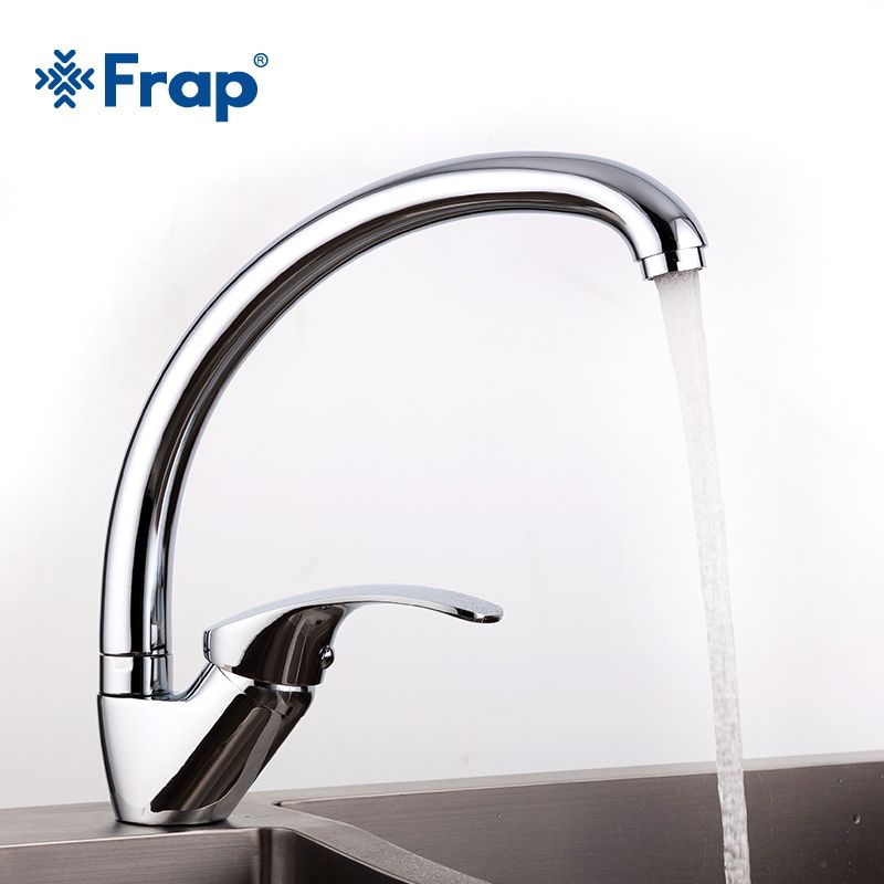 FRAP Big <font><b>promotion</b></font> Zinc alloy deck mounted kitchen sink faucet Cold and Hot Water Tap 360 Degree Swivel mixer faucets torneira