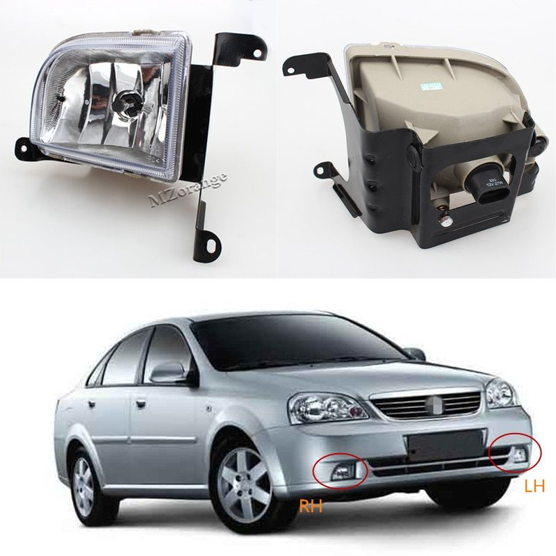 For Daewoo For Chevrolet Lacetti/Optra 4DR Buick Excelle Hrv 2003 2004~2007 Front Bumper Fog Lights Fog Lamp Include Light Bulb