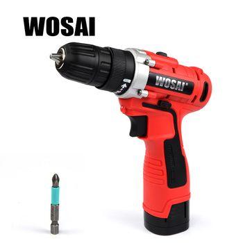 WOSAI 16 V DC Ménage Au Lithium-Ion Batterie Pilote Outils Électriques Perceuse sans fil Perceuse Électrique