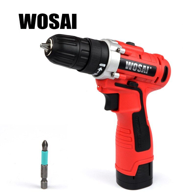 WOSAI 16V DC Household Lithium-Ion Battery Driver Power Tools Cordless Drill Electric Drill