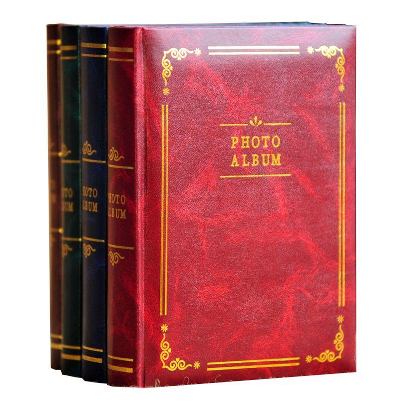 Couverture de livre rétro PU 5 pouces-6 pouces-7 pouces insérer album photo 200 photos bébé peut laisser un message album photo de famille