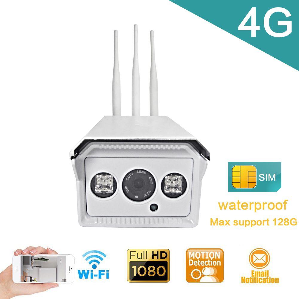 1080P/960P/720P Bullet IP Camera Wireless 3G 4G LTE SIM Card IP Camera Wifi Outdoor Waterproof Night Vision Surveillance Camera