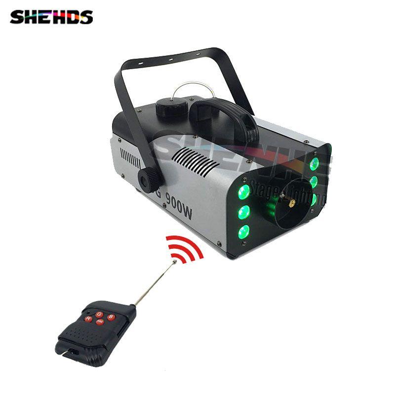 Mini 900 watt RGB 3IN1 Fernbedienung nebel maschine pumpe DJ Disco Rauch Maschine für Party Hochzeit Weihnachten Bühne Fogger maschine