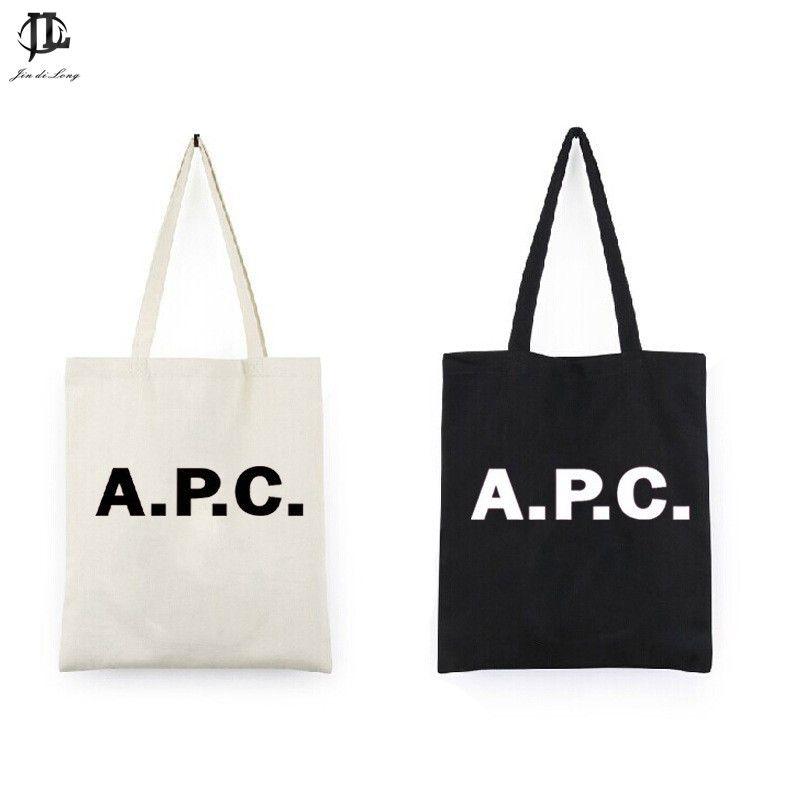 Einkaufstasche Leinwand Leere Leinwand-taschentasche Englisch Brief Design Leinwand Tote Umhängetasche Handtasche Tragetaschen Für Frauen