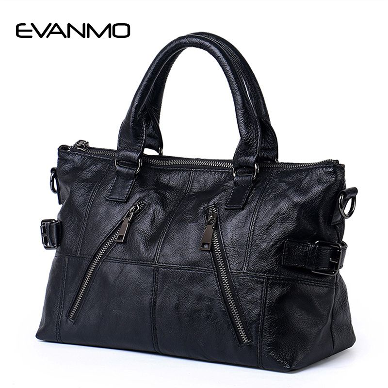 Large Capacity 2017 New Hot Sale Black Tote Bag Cowhide Patchwork Shoulder Bag Women Genuine Leather Handbag Female Travel Bags