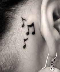 24 impermeable tatuaje dedo del oído música nota bird estrellas línea racha henna flash tatoo falso para mujeres