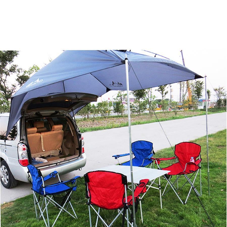 1 stücke Tragbare Outdoor-camping-ausrüstung Wasserdicht Große Markise Sonnenschutz Shelter Familie Strand Picknick Partei Camping Zelt